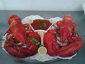Fresh whole Maine Lobsters from Murrells Inlet Seafood