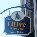 The Olive Shoppe sign