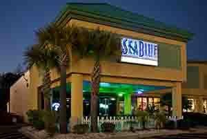 SeaBlueRestaurantOutsideNight