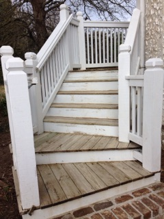 Allbrite Powerwashing Stairs After Cleaning